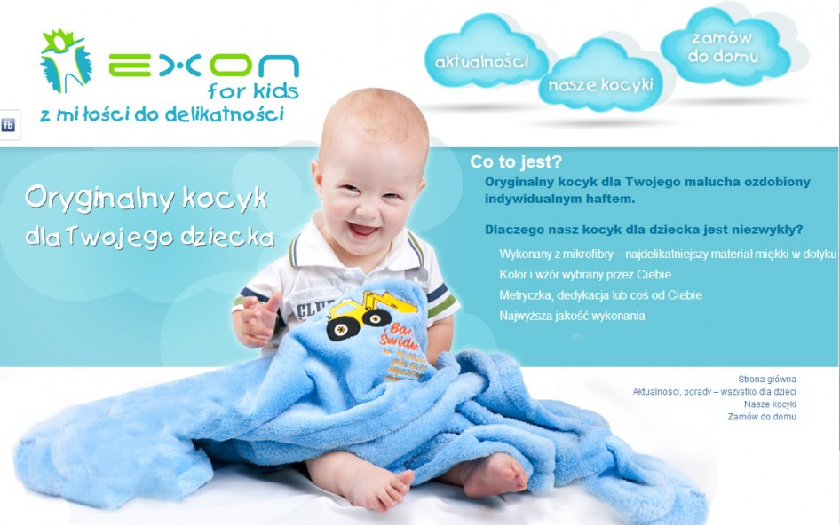 projekt strony Exon For Kids
