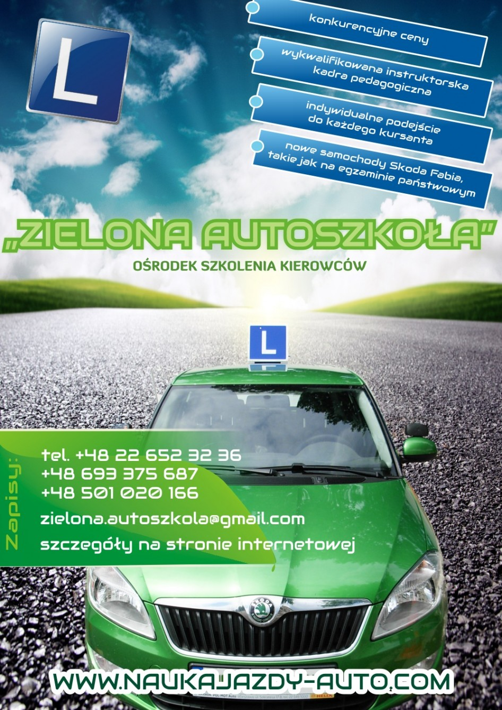 plakat szkoła jazdy